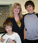 Artist, Trisha Selgrath, with her boys.
