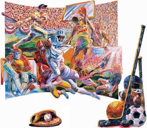 Baseball Murals Related Keywords & Suggestions - Baseball Murals Long ...